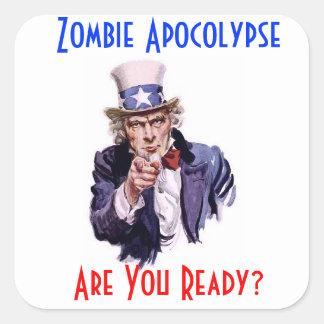 Pegatina de Apocolypse del zombi