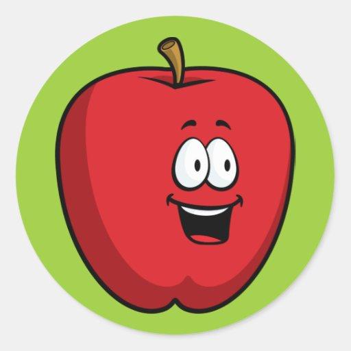 Pegatina de Apple del dibujo animado