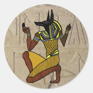 Pegatina de arrodillamiento de Anubis