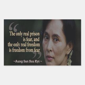 Pegatina de Aung San Suu Kyi