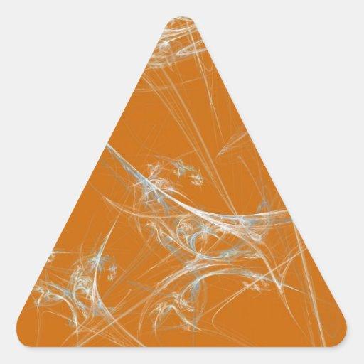 Pegatina de BackgroundTriangle del fractal del Web