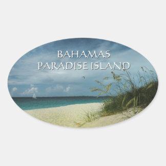 Pegatina de Bahamas de la isla del paraíso