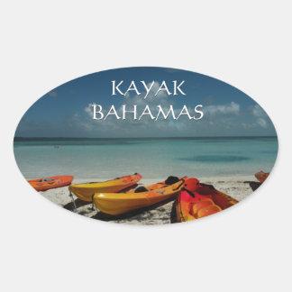 Pegatina de Bahamas del kajak del océano
