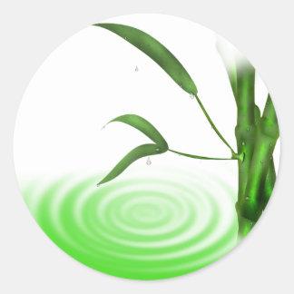 Pegatina de bambú de la planta de la ondulación