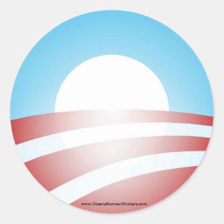 """Pegatina de Barack Obama """"O"""""""