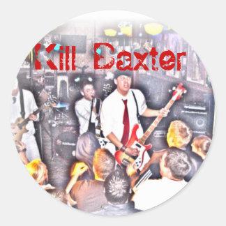 Pegatina de Baxter de la matanza