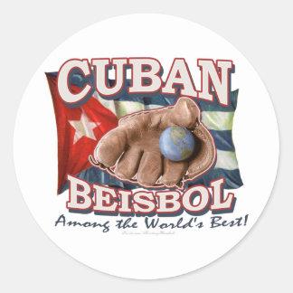 Pegatina de Beisbol del cubano