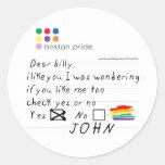 Pegatina de Billy pequeño