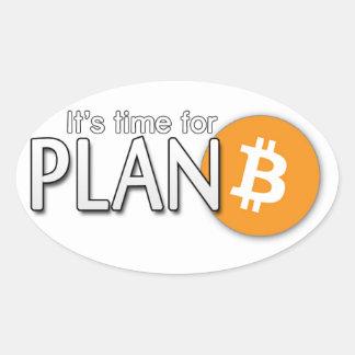 Pegatina de Bitcoin: Es hora para el ฿ del plan