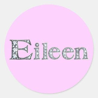 """Pegatina de Bling del diamante de """"Eileen"""""""