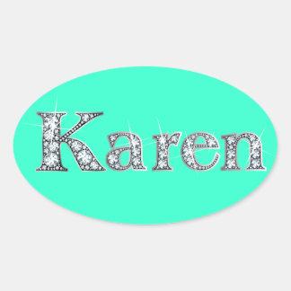 """Pegatina de Bling del diamante de """"Karen"""""""