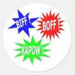 Pegatina de Boff Kapow del Biff