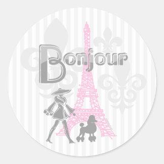 Pegatina de Bonjour París 2