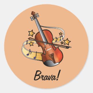 Pegatina de Brava para el estudiante del violín