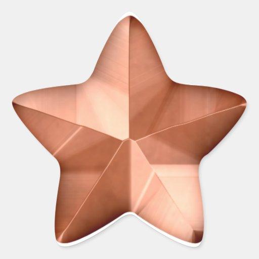 Pegatina de bronce de la estrella