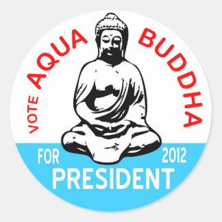 Pegatina de Buda de la aguamarina