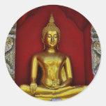 Pegatina de Buda del oro