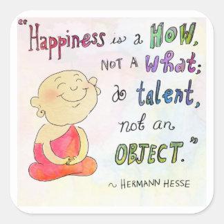 """Pegatina de Buda Doodles™ de la """"felicidad"""" -"""