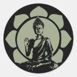 Pegatina de Buda Lotus