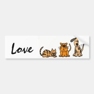 Pegatina de Bumber del amor de los perros y de los Pegatina Para Auto