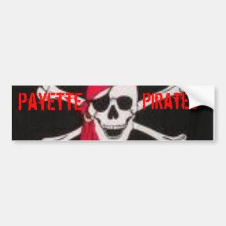 Pegatina de Bummper del pirata de Payette Pegatina Para Auto