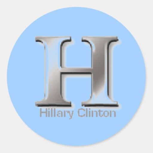 """Pegatina de Clinton """"H"""""""