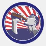 Pegatina de consumición de la cerveza patriótica