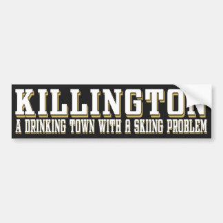 Pegatina de consumición y de esquí de Killington Pegatina De Parachoque