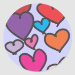 Pegatina de cristal de los corazones