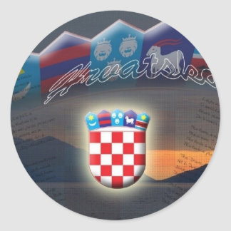Pegatina de Croacia