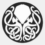 Pegatina de Cthulhu del asesino (NEGRO) (tiempo