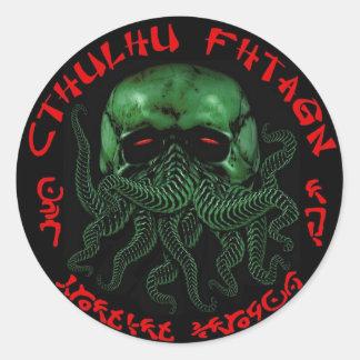 Pegatina de Cthulhu Fhtagn