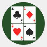 Pegatina de cuatro tarjetas