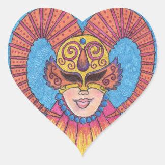 Pegatina de cuernos de la máscara del carnaval