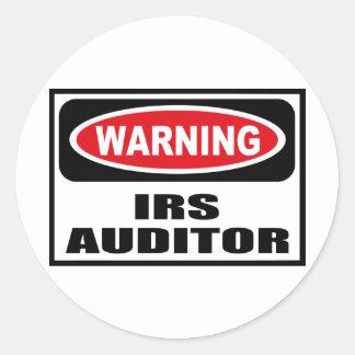 Pegatina de cuidado del INTERVENTOR del IRS