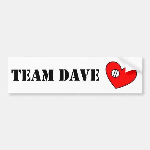 Pegatina de Dave del equipo Pegatina De Parachoque