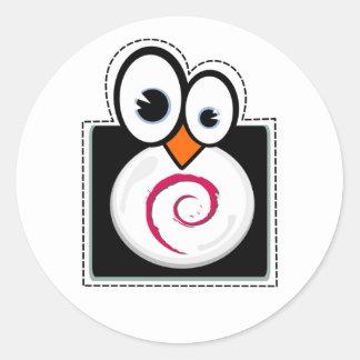 Pegatina de Debian del pingüino de Linux