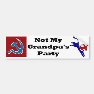 Pegatina de Demócrata Bumber del fiesta de no mi a Pegatina De Parachoque
