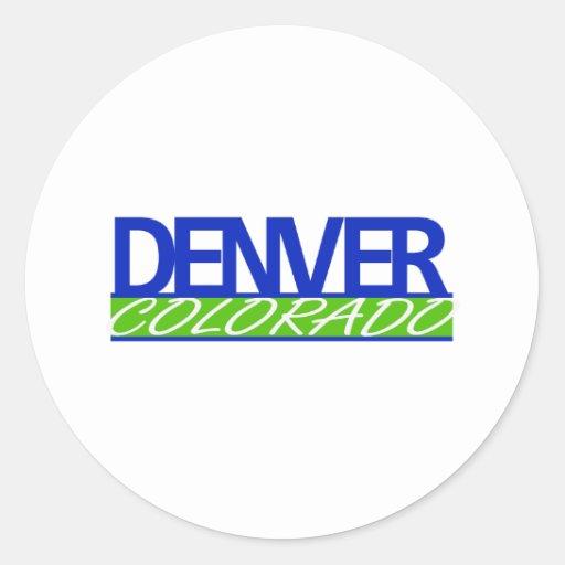 Pegatina de Denver Colorado