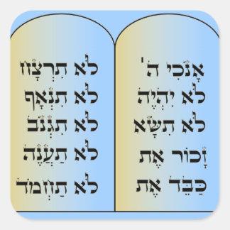 Pegatina de diez mandamientos