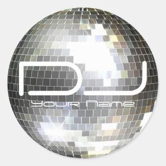 Pegatina de DJ de la bola de discoteca