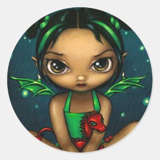 """Pegatina de """"Dragonling verde"""""""