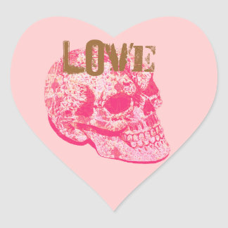 Pegatina de encaje del cráneo del azúcar rosado