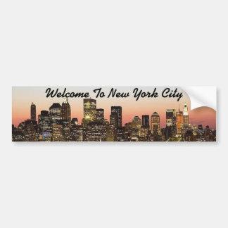 Pegatina de encargo de Africankoko New York City Pegatina De Parachoque