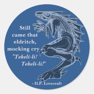 Pegatina de encargo de H.P. Lovecraft Quote del