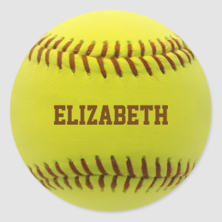 Pegatina de encargo de la bola del softball