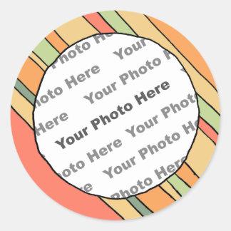 Pegatina de encargo de la foto de las rayas