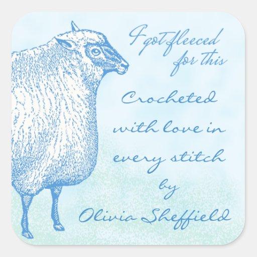Pegatina de encargo de las ovejas para sus regalos