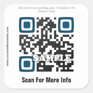 Pegatina de encargo del código de QR (plantilla