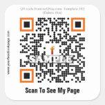 Pegatina de encargo del código de QR (plantilla #1